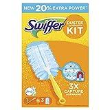 Swiffer Staubmagnet Starterset (mit 1 Griff und 3 Tücher, mit Febreze-Duft)