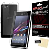 TECHGEAR® Sony Xperia Z1 Compact / D5503 Premium FULL FRONT & BACK CLEAR Screen Protector Cover Guards With Cleaning Cloth & Application Card