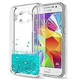 LeYi Galaxy Core Prime Case with Screen Protector, Girl Women 3D Glitter Liquid