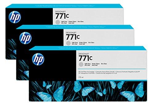 Preisvergleich Produktbild HP 771C Multipack Original Druckerpatronen mit hoher Reichweite (3x Hellgrau) für HP DesignJet
