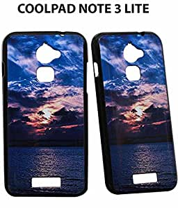 JKOBI(TM) Exclusive Rubberised Back Case Cover For Coolpad Note 3 Lite (5.0 INCH)-sun set