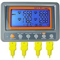 Az instrumentos 4canal K Tipo termómetro registrador de datos de tarjetas SD termopar temperatura por az instrumentos