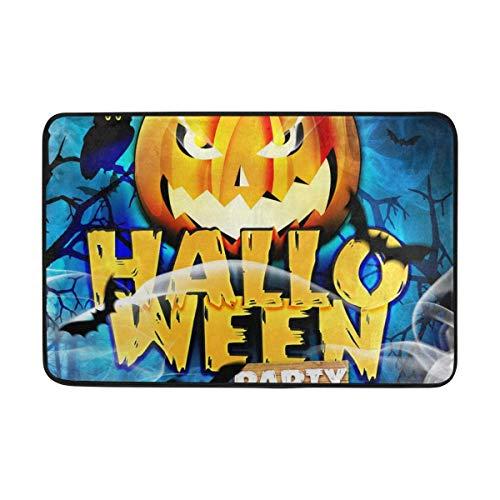 ZHIZIQIU PLAO Doormat Template Flyer for Halloween Night Outdoor Mats, Non Slip Door Mat for Entrance Way Front Door Inside Outside 23.6
