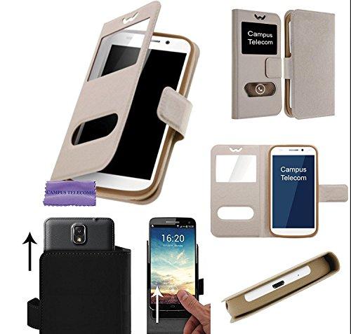 """CAMPUS TELECOM Etui Housse Pochette Coque Universelle Or Gold pour Danew Konnect 501 502 503 504 505 510 525 BM525+ R500 510 (5"""" Pouces)"""
