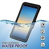 Wendapai wasserdicht Telefon Hülle Heavy-Duty Tragetasche Fully Sealed Watertightness Hülle zum Samsung Galaxy Note 9 Waterproof,-Black
