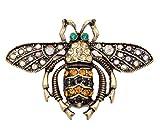 Small Island aufwendige Kristall Hummeln Biene/Wespe Insekt Brosche Pin in Antik Messing Ton (in Organza Tasche)