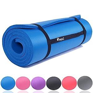 TRESKO Fitnessmatte Yogamatte Pilatesmatte Gymnastikmatte | 185 x 60cm oder 190 x 100cm | 1,0 oder 1,5cm stark | Phthalates-getestet | NBR Schaumstoff