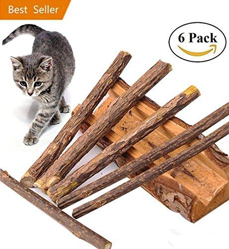 Love77 Matatabi Sticks, 6Stück Dental Stick Natur Zahnpflege Katzenminze Spielzeug kauen für...
