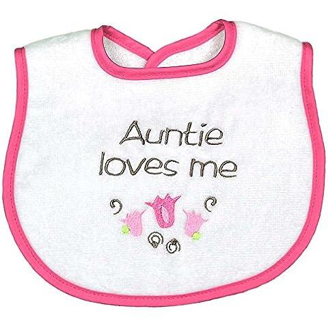 Dee Givens Co-& gocce 6315 Auntie Loves Me-Bavaglino piccolo, colore: fragola