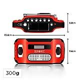 Duronic Apex Radio AM / FM – Solarenergie und USB-Ladegerät – Radiowecker / Taschenlampe / Ideal für Camping, Wandern, zu Hause oder im Garten / Aufladbare Kurbel - 3