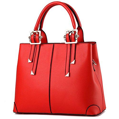 handtasche damen,Schultertasche leder tasche damen von SPSHENG 2-Red
