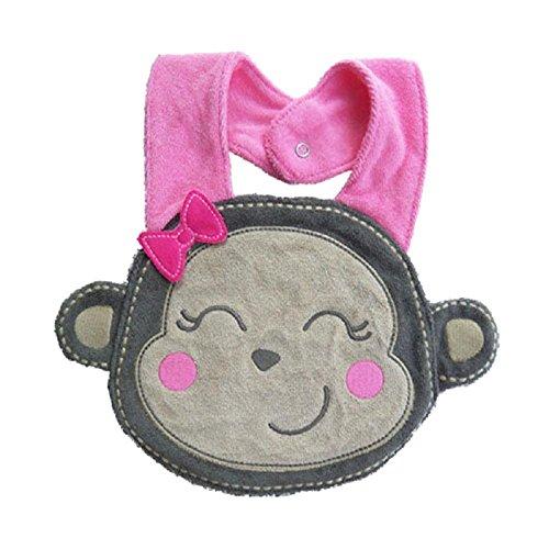 saliva impermeabile bambino, FEITONG cartone animato bavaglini Bib asciugamano animale (scimmia)