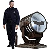 Hot Toys The Dark Knight Rises Movie Masterpiece Actionfigur 1/6 John Blake with Bat-Signal 30 cm
