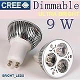 """e-senior Bright Dimmable GU10CREE 3* 3W 9W Ampoule LED en blanc chaud (3000K ~ 3500K) Pois d'économie d'énergie idéales pour remplacer 50~ 60W ampoules halogènes–""""Combiné supplémentaire Achat Discount Disponible jusqu'à un 12% ou plus SAVE pLUS."""