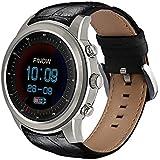 Lemumu 5 Luft Männer WomanSmartWatch Ram 2GB/Rom 16GB MTK 6580 Quad Core Watchphone für Android 5.1 3G Bluetooth Smartwatch für iOS Android, Silber