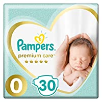 Pampers Premium Care, Size 0, Newborn, 0-2 kg, Carry Pack, 30 Diapers