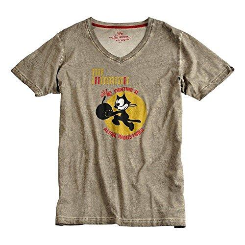 Alpha Industries T-Shirt Bomb Cat oliv Größe S