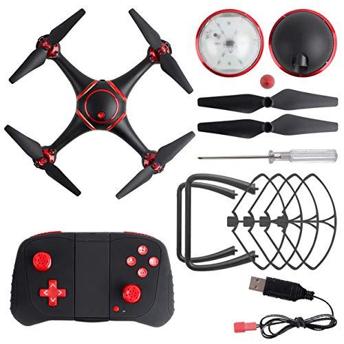 Comomingo S7 LED Nachtsicht RC Drohne mit 720P Kamera WiFi Quadcopter Hubschrauber Spielzeug (schwarz)