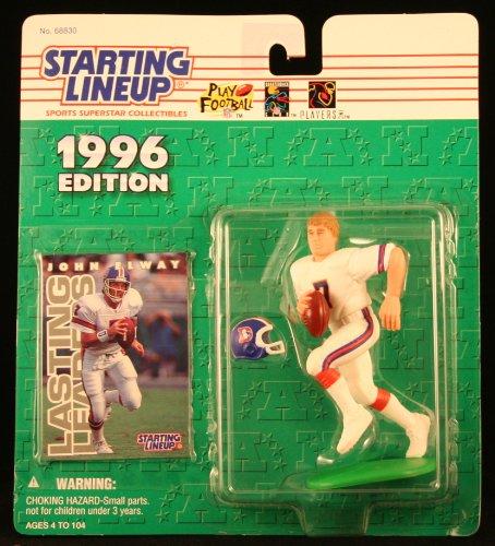 John Elway/Denver Broncos 1996NFL Starting Lineup Aktion steht & Exclusive NFL Collector Trading Card Broncos Football Cards