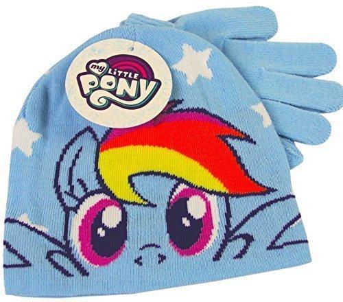 0201d79b016 My Little Pony Rainbow Dash Blue Winter Beanie Hat   Gloves Childrens  Official Set - Buy Online in Oman.