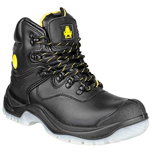 fc23b6d341c Amblers Steel - Black - Leather Lace-Up Mens Boots - Size 14