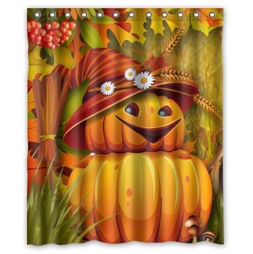 t Kürbiss, Vogelscheuche Custom Wasserdicht Home Decor Bad Weihnachten Geschenk Duschvorhang 60 x 72 cm ()