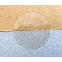 Pegatinas redondas transparentes Minilabel, 50mm, pack de 50 unidades