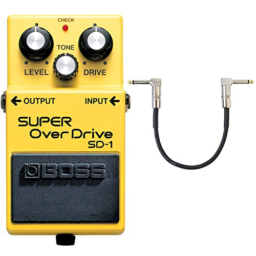 Boss SD-1 Super Overdrive Pedal + keepdrum Patchkabel 30cm