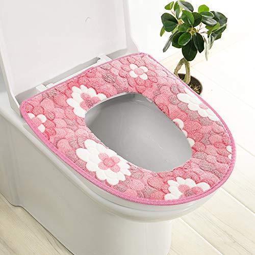 Trap-o-ring (BAOZIV587 2er-Pack WC-Sitzkissen Haushalt Toilettendeckel Aufkleber Wc Trap Waterproof Universal-Wc-Sitzmatte Summer, Pink Big Flower Glue)