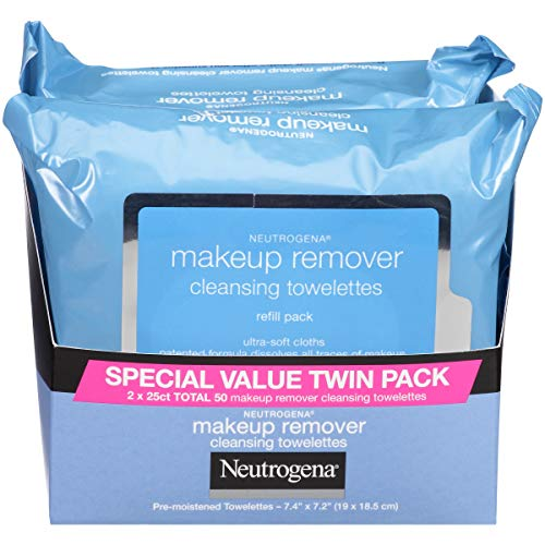 Neutrogena Makeup Remover Cleansing Towelettes, 25 Count (Pack of 2) by Neutrogena -