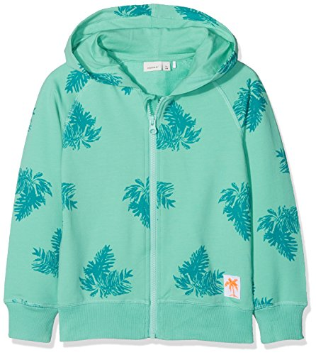 NAME IT Jungen NMMDECTUS SWE Card W Hood UNB Sweatshirt, Mehrfarbig (Pool Blue), 110 -