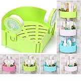 Household Plastic Interdesign Bathroom Kitchen Storage Organize Shelf Rack Triangle Shower Corner Caddy Basket with Wall Mounted Suction Cup