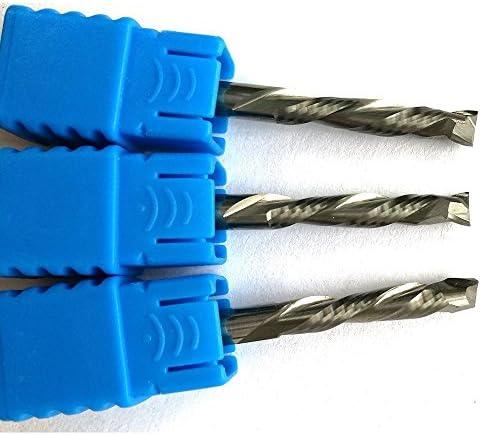 3PIECES 4 x 22 22 22 mm Up & Down due flauti spirale solido carburo fresa strumento pinze per CNC router, compressione, frese legno bit, Rockwell. | finitura  | Prezzo speciale  | Negozio  e99005