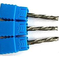 3pieces 4x 22mm Up & Down dos flautas espiral Solid Carbide End Mill Cortadores de herramienta para CNC Router, compresión madera End Mill Cutter bits, hrc55