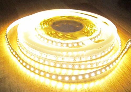 HIGHPOWER LED STRIP STRIPE STREIFEN LEISTE 600 LED 5mt warmweiß warm weiss weiß 24Volt (PRO-Serie) (ohne Netzteil), 2660Lumen von AS-S