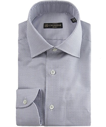 corneliani-slim-fit-texture-chemise-darmure-bleu-uk17