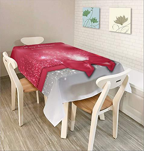 Djkaa Tischdecke - Art Tablecloth - Weihnachtsserie - Wohnzimmer - Restaurant - Hotel - Wasserdichte Tischdecke