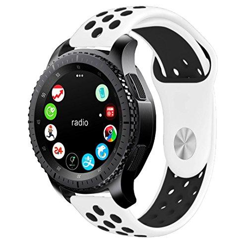BarRan Vivoactive 3 Armband, Fantek Weich Silikon atmungsaktiv Sport Band Wasserdicht Alternative UhrenArmbandd Armbandd für Garmin Vivoactive 3 (Color 4)