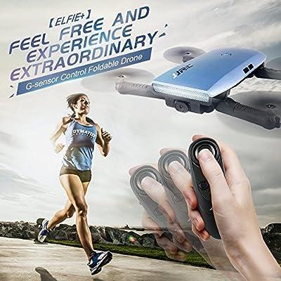 Xiangtat JJRC H47 ELFIE Plus 720P WIFI FPV Foldable Selfie Drone Quacopter With Gravity Sensor Control Altitude Hold RTF