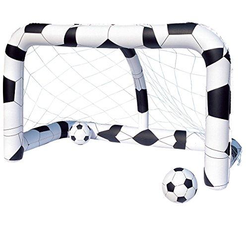 Soccer Netz mit zwei Fußbällen • Aufblas Tor Torwand Kinder Fussball Fußballtorwand Fußballtor Fussballtor