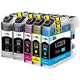 LxTek Kompatibel Tintenpatronen Brother LC223 XL (2 Schwarz, 1 Cyan, 1 Magenta, 1 Gelb) für Brother DCP J4120DW J562DW MFC J4420DW J4620DW J4625DW J480DW J5320DW J5620DW J5625DW J5720DW J680DW J880DW