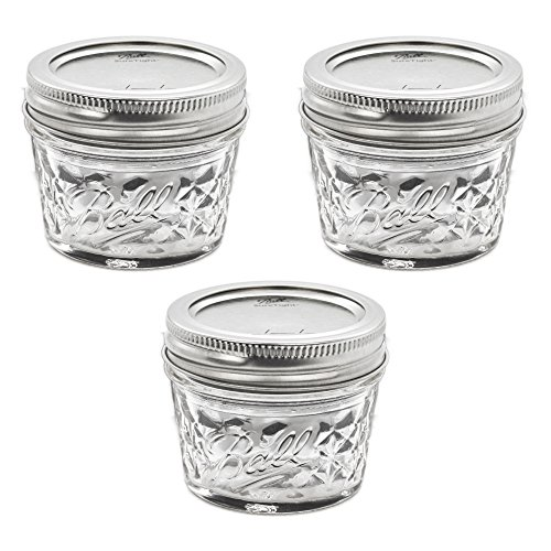 Ball Mason Quilted Crystal Jelly Jar 4oz/3er Set -