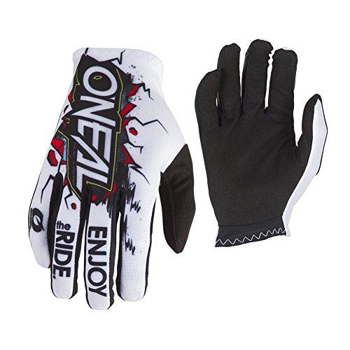 O'Neal Matrix Kinder Fahrrad Handschuhe Villain Mountain Bike Enduro MTB FR DH, 0388-VYouth, Farbe Weiß, Größe XL