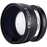 Kiwifotos KLS Série Grand Angle 0,45x lentille de conversion avec bouchon d'objectif, Sac et chiffon de nettoyage d'objectif pour Canon 1300d, 1200d, 1100d, 760d, 750d, 700d, 80d, 70d, 60d, 7d, 6d, 5DS, 5DS R, 5d Mark III, 1d, etc. appareils photo