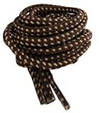 Round Strong Hiking/Walking Boot Laces Brown and Sand 120cm