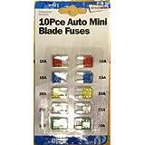 Motionperformance Essentials Lot de 10 Mini Fusibles automatiques pour voiture, camionnette, caravane, Moto (10 A, 15A, 20A, 25A, 30A)