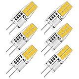 Zikey 6 Pezzi Lampadine LED G4 3W, Bianco Freddo, 250LM 20X 2835 SMD, Equivalente a 30W Lampada Alogena, 12V AC/DC, Non sfarfallio, Non dimmerabile