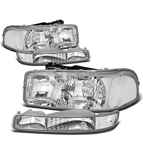 gmc-sierra-yukon-gmt800-chrome-housing-headlight-clear-corner-bumper-light-by-auto-dynasty