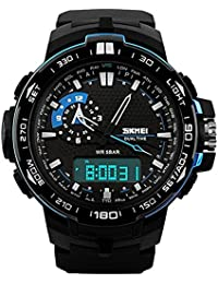 VILAM SKMEI 1081 Watch Sport Quartz Dual Time Digital Analog Military Wristwatches