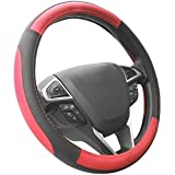 #10: Cartrim Adinox Ring Type Car Steering Wheel Cover (Ultimate Black Red) for -Tata Nexon